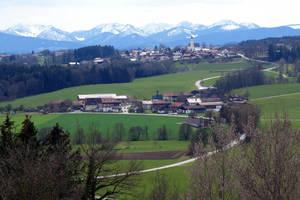 Alpenpanorama bei Jakobsbaiern