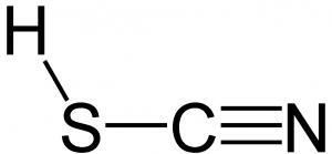 Rhodan Strukturformel (Thiocyansäure)