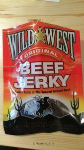 Original Wild West Beef Jerky Biltong Verpackung vorn