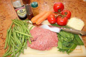 Gemüse Hackfleisch Auflauf die Zutaten