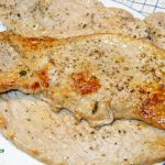 Die Kalbsschnitzel noch ohne Granatapfelsoße