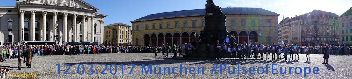 Menschenkette bei PulseofEurope in München