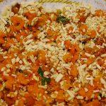 Karottenbratling mit getrockneten Aprikosen