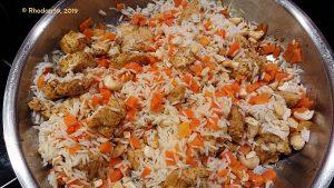 """Auflauf """"Dambulla"""" Fleisch Karotten Reis"""