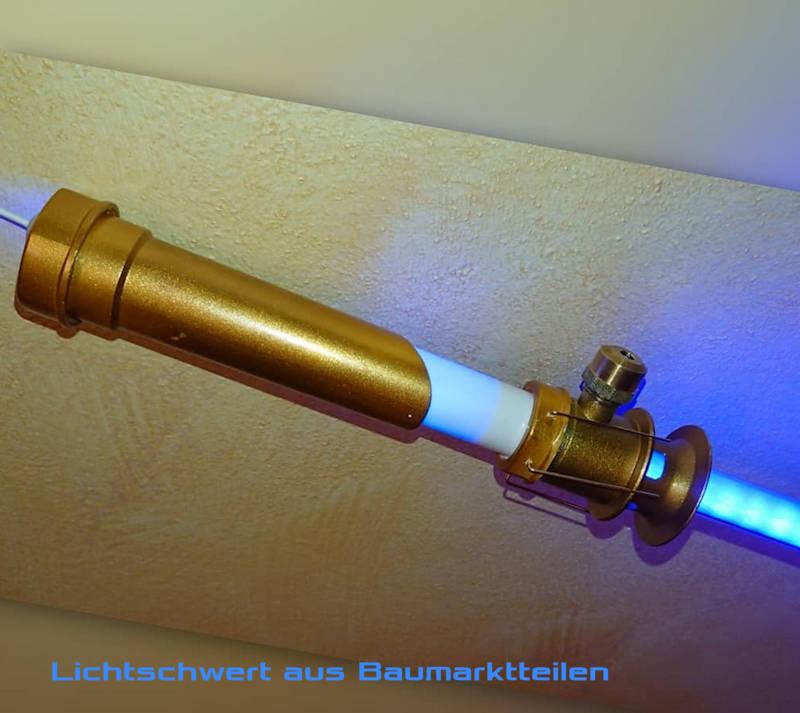 Lichtschwert mit ein wenig Farbe verschönert