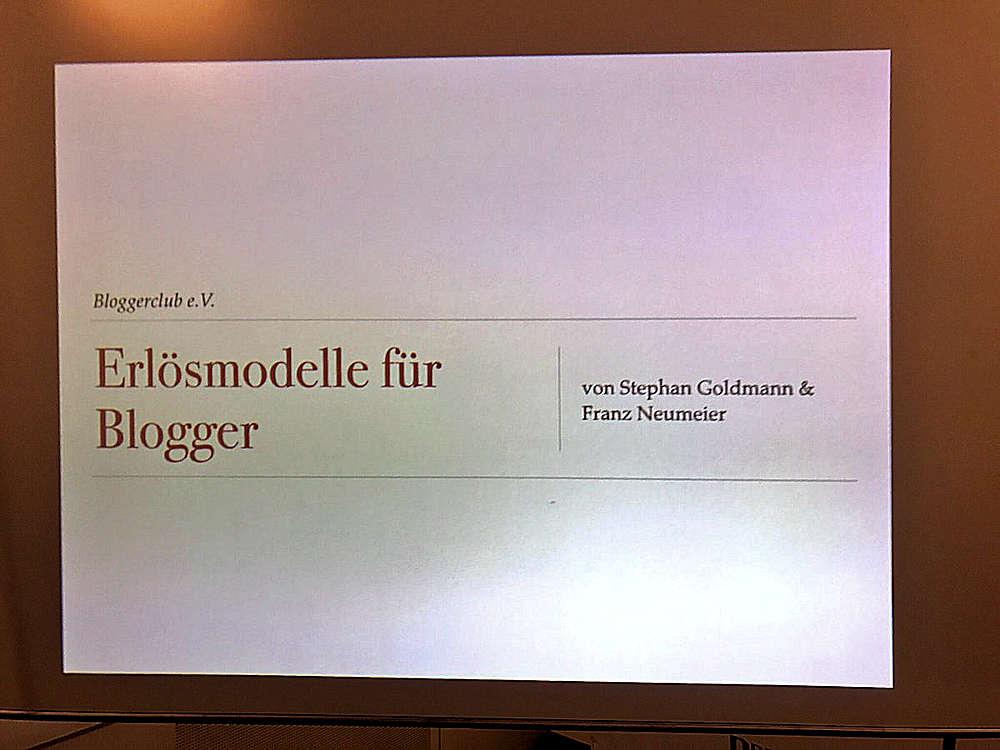 Bloggerclub Monetarisierung München